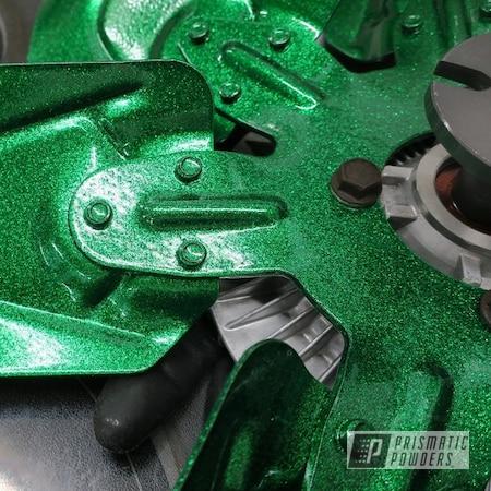 Powder Coating: Automotive,Chevrolet,Illusion Gambler PMB-6916,Corvette,Cooling Fan,Disco Emerald PPB-7041
