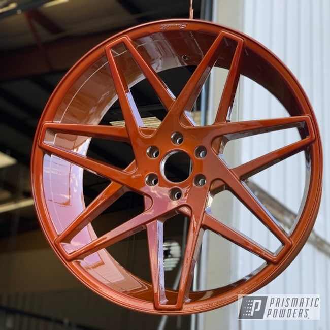 "Powder Coating: Wheels,Automotive,24"" Wheels,SUPER CHROME USS-4482,SS,Chevy,Trans Copper II PPS-2618,Powder Coat Wheels"