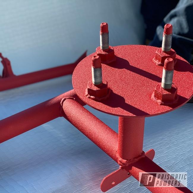 Powder Coating: ATV,Hacienda Red Wrinkle PWB-6450,Tire Rack,Polaris,RZR,Front Bumper