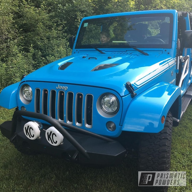 Powder Coating: Auto Parts,Automotive,Poison Spyder Customs,BLACK DIAMOND UTS-1527,Bull bar,Jeep,Jeep Bumper,Bumper,Metal Graphics,Wrangler