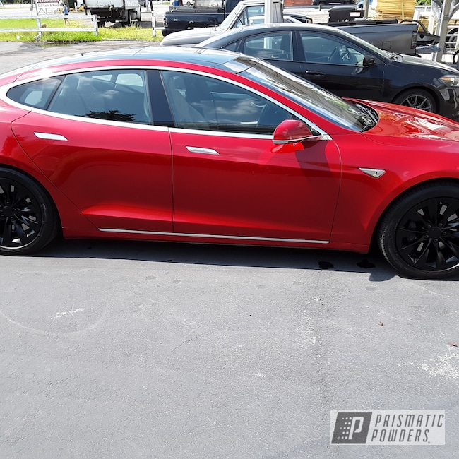 "Powder Coating: Wheels,Automotive,BLACK JACK USS-1522,Tesla Wheel,20"",Auto,Tesla"