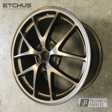 Powder Coating: Wheels,Automotive,STI,Subaru,Beaver Bronze PMB-7056,Powder Coat Wheels