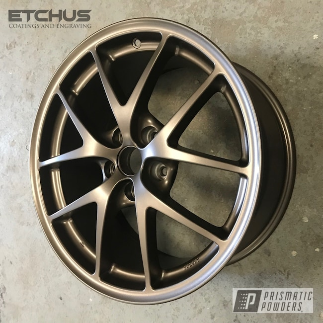 Powder Coating: Wheels,Automotive,STI,Subaru,Beaver Bronze PMB-7056,Powder Coat Wheels