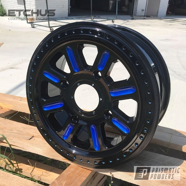 Powder Coating: Wheels,Clear Vision PPS-2974,ATV,GLOSS BLACK USS-2603,Illusion Blueberry PMB-6908,Polaris,RZR,Two Tone,ATV Wheels