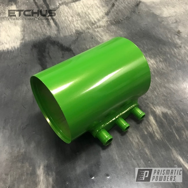 Powder Coating: Automotive,Lime Juice Green PMB-2304,Subaru,Oil Separator