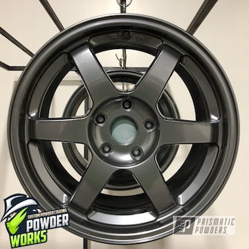 Powder Coated Wheels In A Deep Charcoal Color