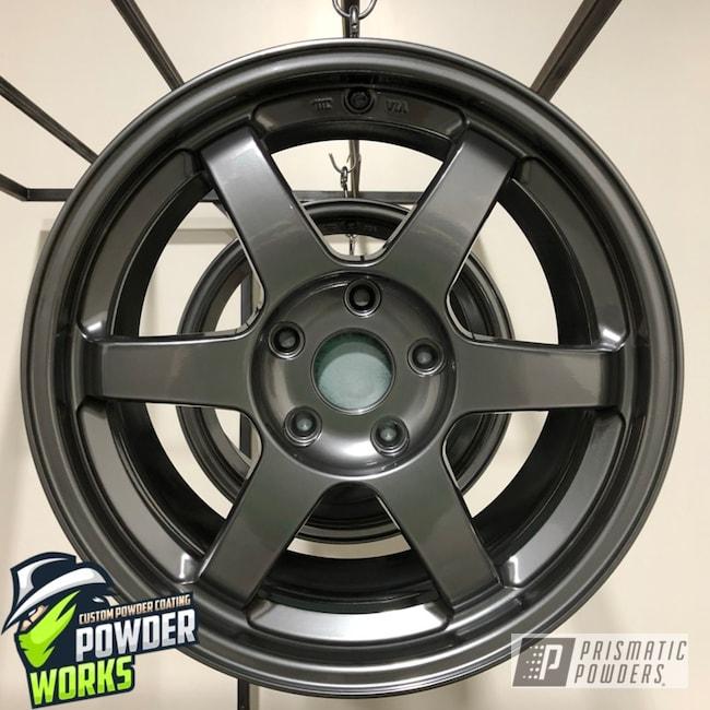 Powder Coating: Wheels,Automotive,Solid Tone,ULTRA BLACK CHROME USS-5204
