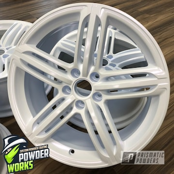 Powder Coated White Wheels