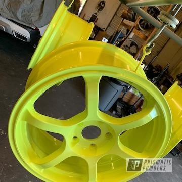 Powder Coated Honda Civic Wheels