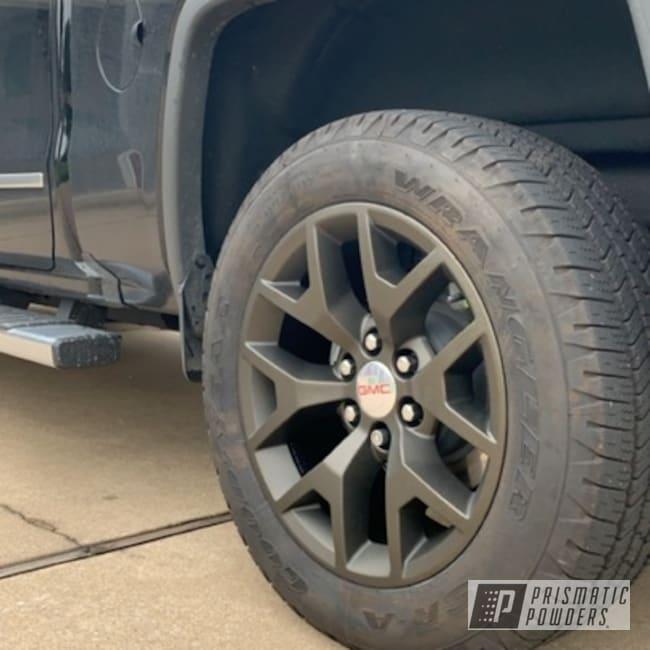 "Powder Coating: Wheels,Truck,Automotive,Bronze,20'',Truck Rims,Sierra,20"",GMC,Antogan Texture PTB-6687,20"" Wheel"