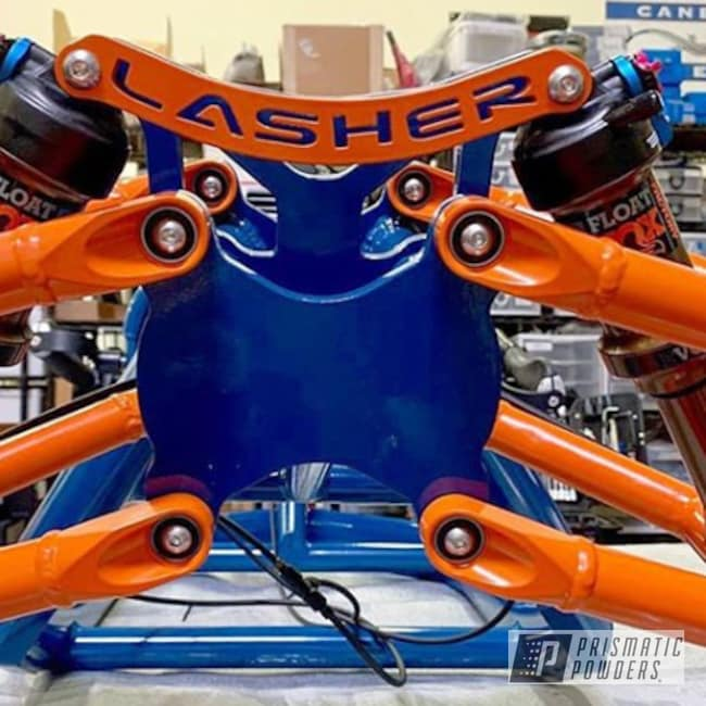 Powder Coating: Bicycles,Handcycle,International Orange PSS-2779,Cadet Blue PSS-4553,Bicycle,ATH-FS,Lashersport