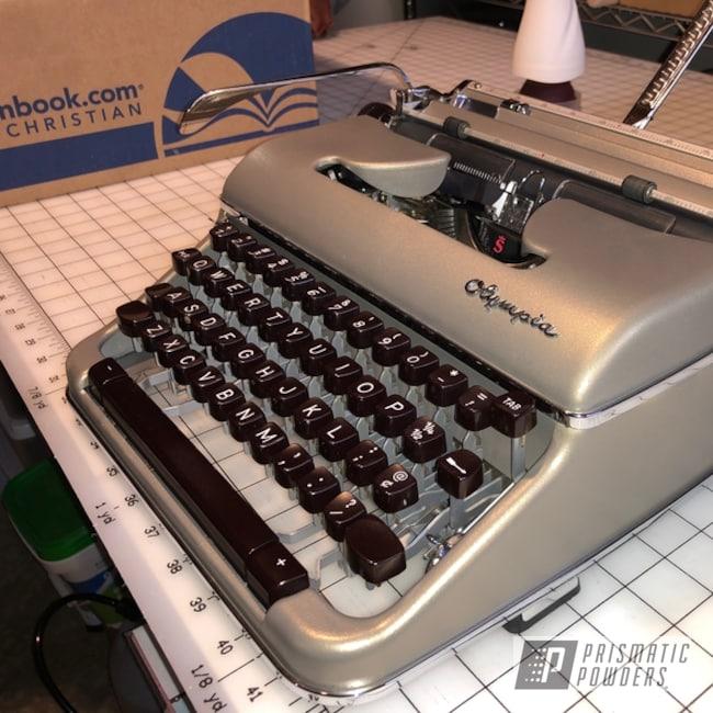 Powder Coating: GREY WRINKLE EWB-5948,Office Equipment,Typewriter