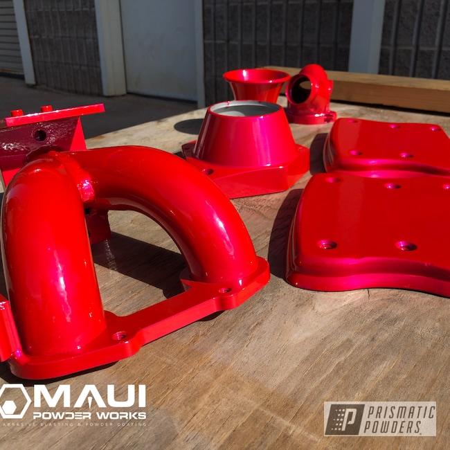 Powder Coating: Intake Manifold,big island,Valve Covers,Motor Bike Parts,Motorcycles,Corkey Pink PPS-5875