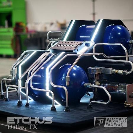 Powder Coating: Air Tank,Automotive,Clear Vision PPS-2974,Air Ride,Illusion Lite Blue PMS-4621,Air Lift,Suspension