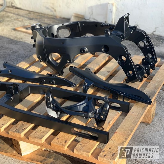 Powder Coating: BLACK JACK USS-1522,Motorcycle Frame,Motor Bike Parts,1000,GSXR,Suzuki,Motorcycles