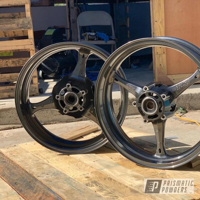 Powder Coating: Wheels,Motor Bike Wheels,17,1000,GSXR,Kingsport Grey PMB-5027,Suzuki,Motorcycles