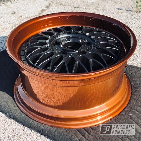 "Powder Coating: Wheels,18"",Automotive,18"",Transparent Copper PPS-5162,SUPER CHROME USS-4482,Rims,Two Toned"