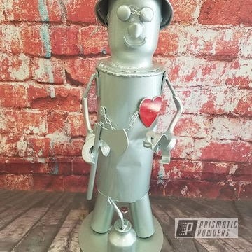 Powder Coated Tin Man Statue