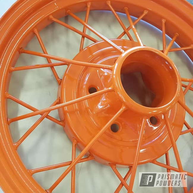 "Powder Coating: Wheels,Model A Wheels,Automotive,15"" Steel Wheels,RAL 2010 RAL-2010,Model A"