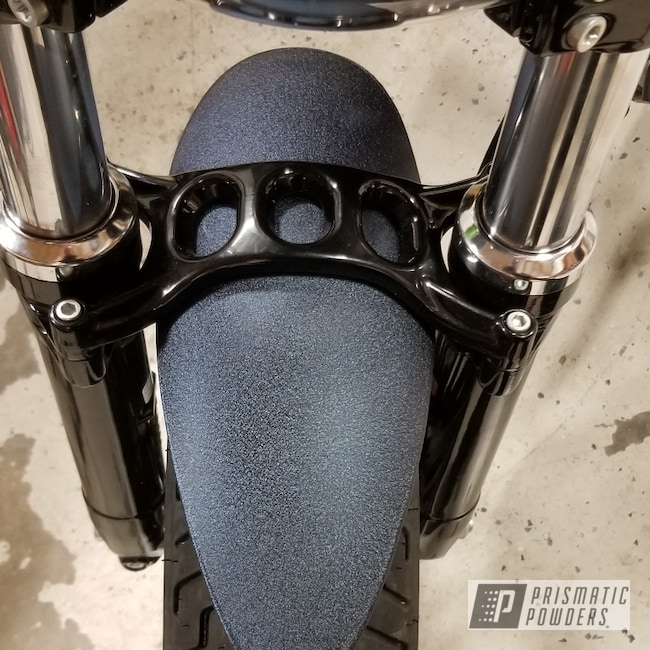 Powder Coating: DESERT MIDNIGHT PWB-2773,Custom Motorcycle,Motorcycles