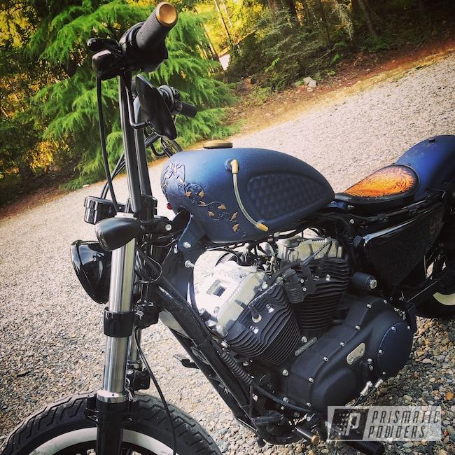 Powder Coating: DESERT MIDNIGHT PWB-2773,Custom Motorcycle,Motorcycles
