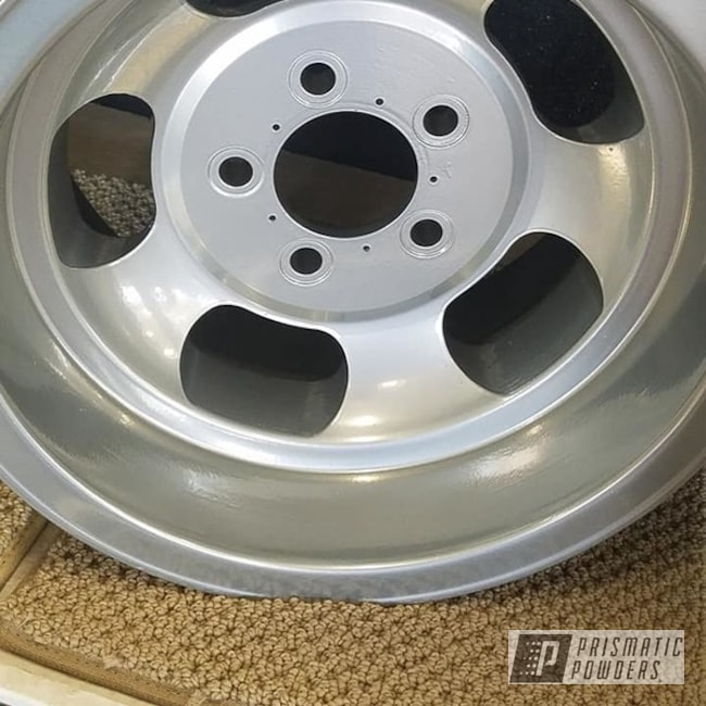 "Powder Coating: Wheels,Automotive,Clear Vision PPS-2974,SUPER CHROME USS-4482,Super Chrome,Aluminum Rims,2 Stage Application,15"" Wheels,15"" Wheel"