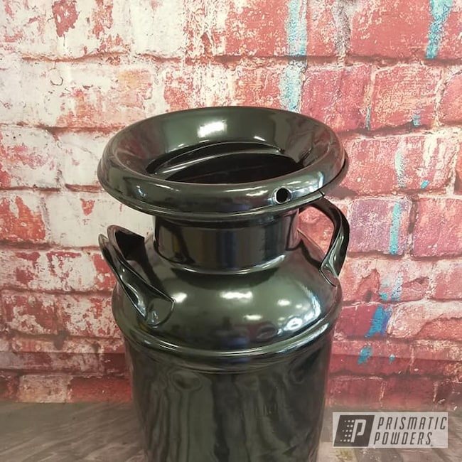 Powder Coating: Vintage Cream Can,Milk Can,Ink Black PSS-0106,Antiques