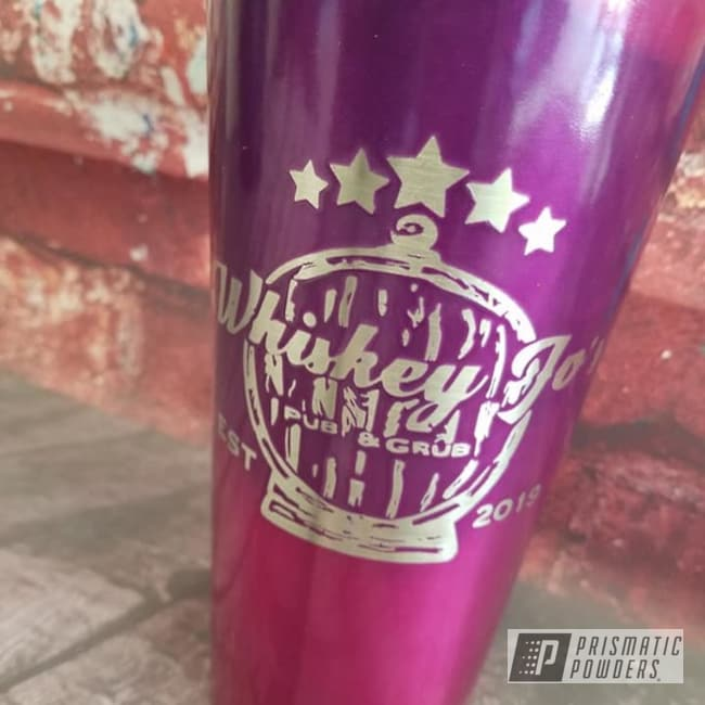 Powder Coating: Tumbler,2 Color Application,Drinkware,Custom Cup,Lollypop Purple PPS-1505,20oz Tumbler,LOLLYPOP BERRY UPS-1509,Custom Tumbler Cup