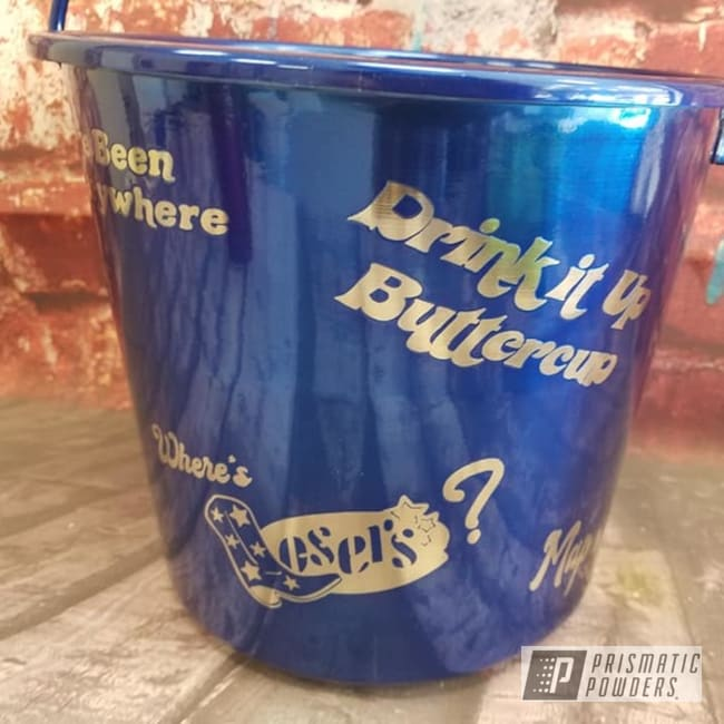 Powder Coating: Bucket,Transparent Powder Coating,Intense Blue PPB-4474,Just For Fun,Miscellaneous