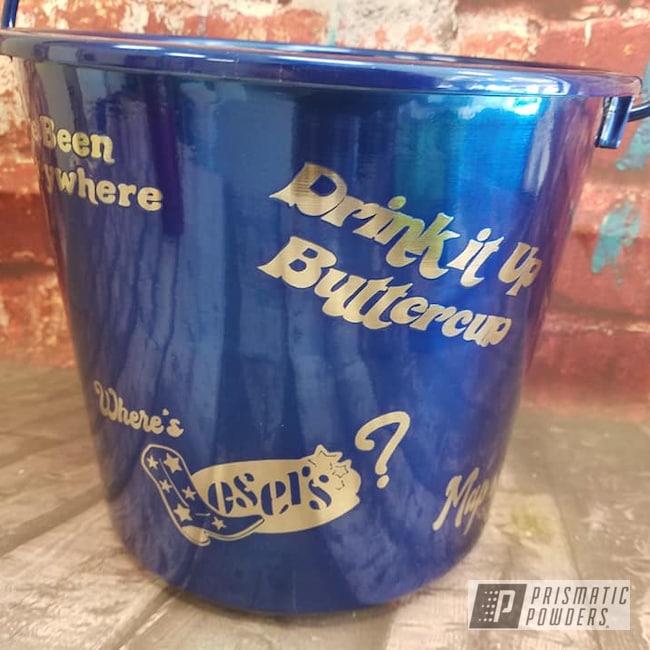 Powder Coating: Bucket,Transparent Powder Coating,Intense Blue PPB-4474,Just For Fun,Miscellaneous