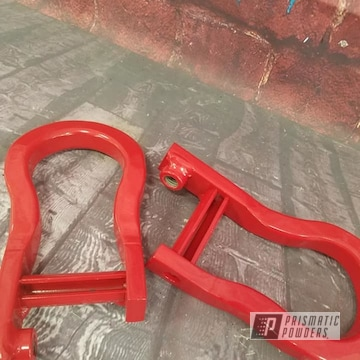 Powder Coated Red Tow Hooks