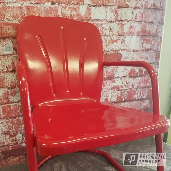 Powder Coating: Vintage Lawn Chairs,Outdoors,Lawn Chairs,RAL 3002 Carmine Red,Furniture