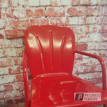 Powder Coated Red Vintage Lawn Chairs