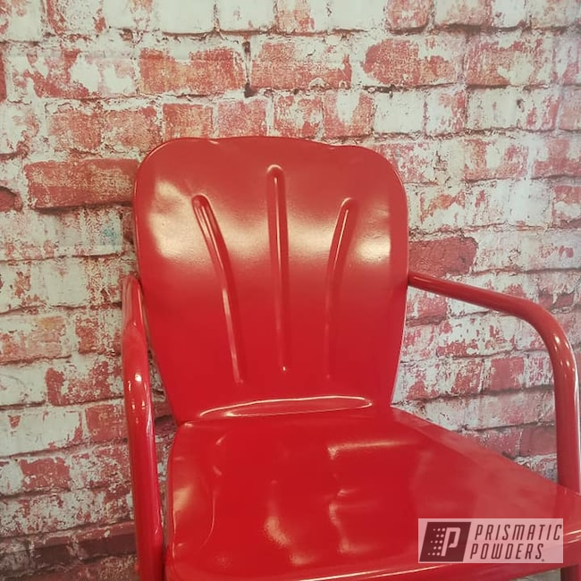 Powder Coating: Vintage Lawn Chairs,Outdoors,RAL 3002 RAL-3002,Lawn Chairs,Furniture