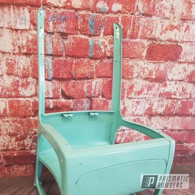 Powder Coating: Sea Foam Green PSS-4063,School Chair,Vintage,Furniture