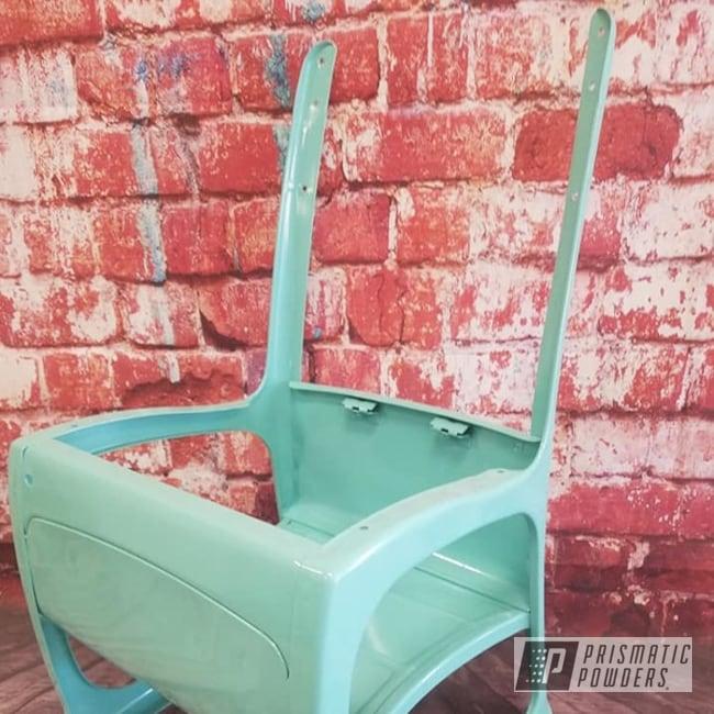 Powder Coating: Sea Foam Green PSS-4063,School Chair,Vintage,Furniture