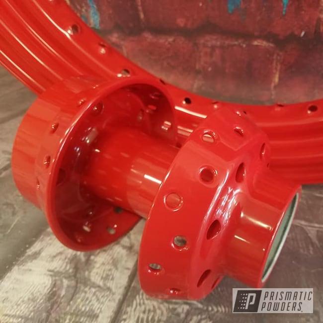 Powder Coating: Wheels,Harley Davidson,Spoked Wheels,Harley Wheel,Motorcycle Parts,Rims,RAL 3000 RAL-3000,Motorcycles