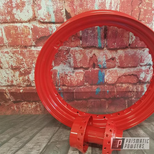 Powder Coating: Wheels,RAL 3000 Flame Red,Harley Davidson,Spoked Wheels,Harley Wheel,Motorcycle Parts,Rims,Motorcycles