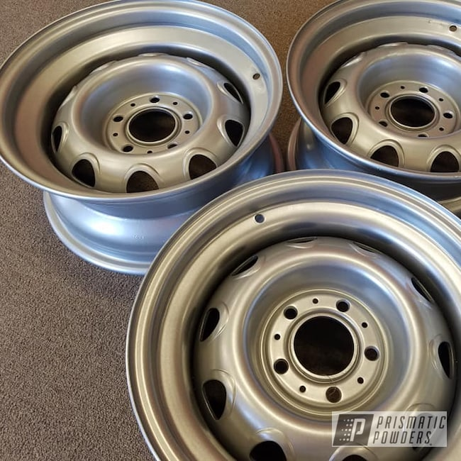 "Powder Coating: Wheels,Automotive,Custom Rims,15"" Steel Wheels,15"" Wheels,Crushed Silver PMB-1544"
