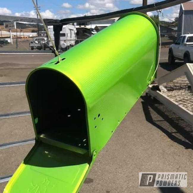 Powder Coating: Mailbox,Shocker Yellow PPS-4765,Miscellaneous