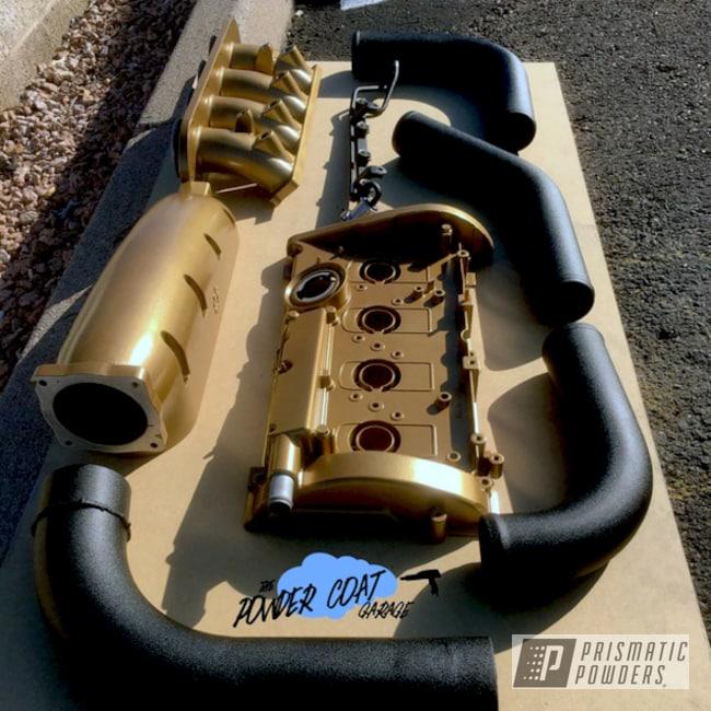 Powder Coating: Automotive,Vegas Nutmeg PMB-4303,Custom Powder Coated Engine Parts,Engine Components,Desert Nite Black PWS-2859