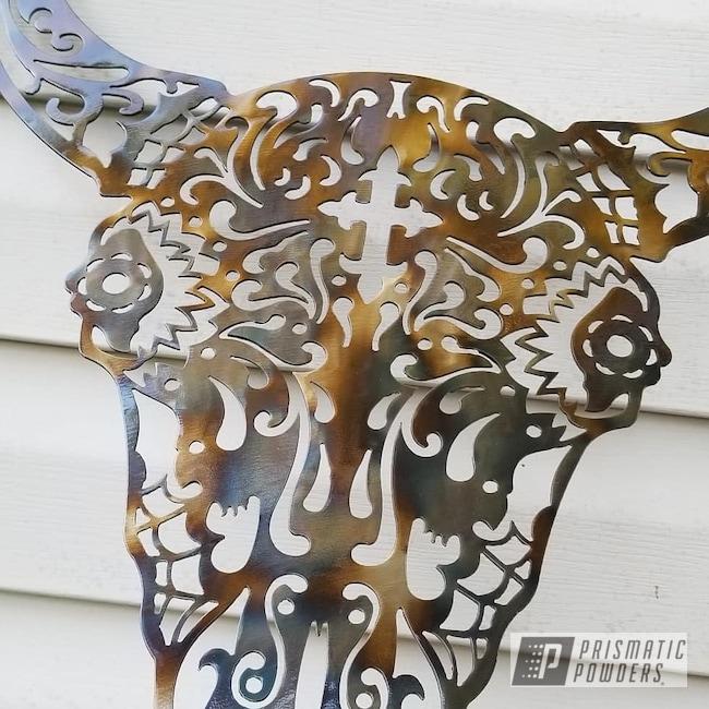 Powder Coating: Metal Art,Clear Vision PPS-2974,Art,flame painted with clear vision,CNC Metal Art