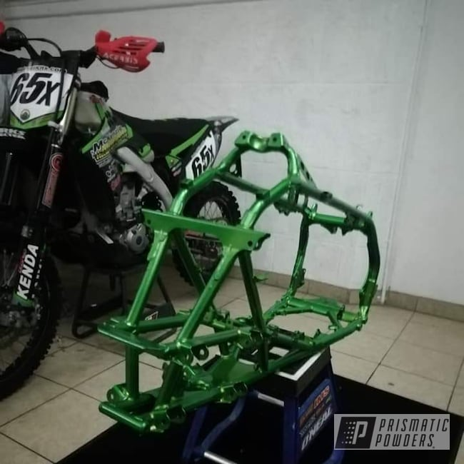 Powder Coating: Card Black PSS-1523,TRX450R,Illusion Lime Time PMB-6918,Clear Vision PPS-2974,ATV,2 Stage Application,Off-Road,Honda,Honda TRX