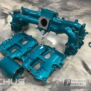 Powder Coated Subaru Intake Manifold