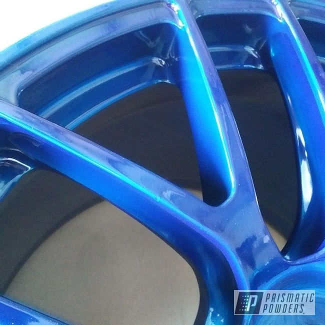 "Powder Coating: Wheels,19"",Automotive,SUPER CHROME USS-4482,ANODIZED BLUE UPB-1394,19"" Aluminum Rims,BBS"