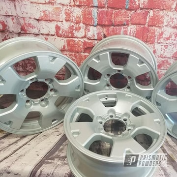 Powder Coated Set Of 15 Inch Aluminum Wheels