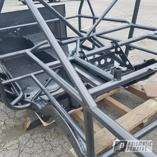 Powder Coating: Automotive,Kingsport Grey PMB-5027,Racing,Race Car Chassis