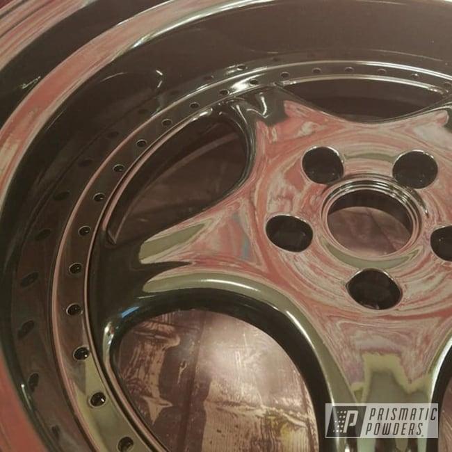 Powder Coating: Wheels,Automotive,2 Piece Wheels,Ink Black PSS-0106,Aluminum 2 Piece Rims,Aluminum Wheels