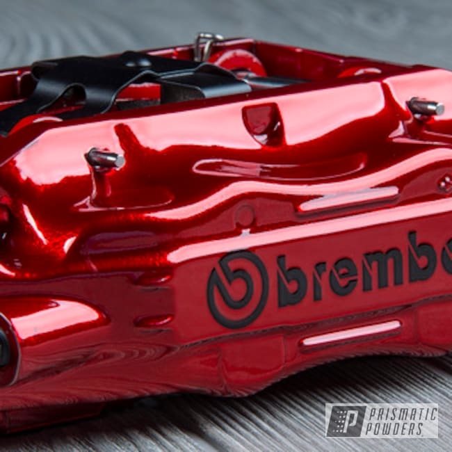 Powder Coating: Automotive,Nissan,Brakes,SUPER CHROME USS-4482,LOLLYPOP RED UPS-1506,Brembo,Brake Calipers,300z