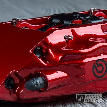 Powder Coating: Automotive,Nissan,Brakes,SUPER CHROME USS-4482,LOLLYPOP RED UPS-1506,Brembo,Brake Calipers,300z
